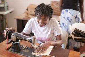 Trades of Hope Artisan partner sewing